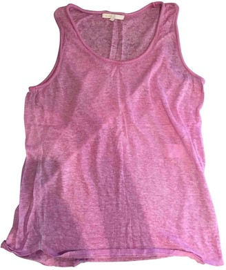 Maje Pink Linen Top for Women
