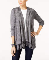 Style&Co. Style & Co Petite Fringed Cardigan, Created for Macy's