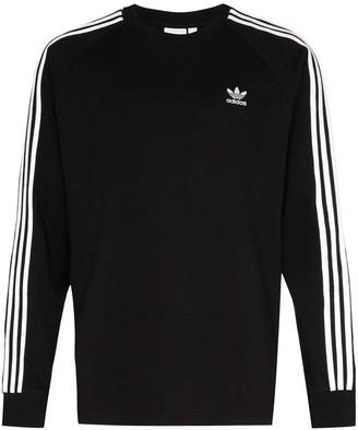 adidas three-stripe long-sleeve T-shirt