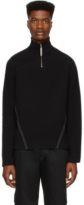 Spencer Badu Black Half-Zip Sweater