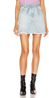 Givenchy A Line Denim Mini Skirt in Blue | FWRD