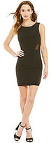 Jodi Kristopher Sleeveless Embellished Low-Back Sheath Dress