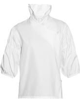 J.W.Anderson Ruffled stand-collar poplin blouse