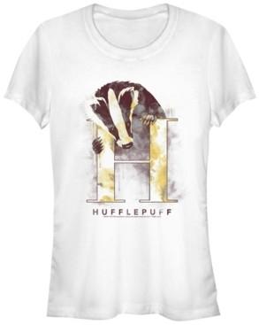 Fifth Sun Harry Potter Hufflepuff Mystic Wash Badger Women's Short Sleeve T-Shirt