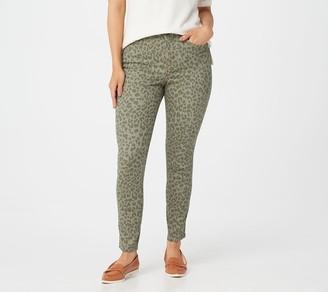 Isaac Mizrahi Live! Petite TRUE DENIM Leopard Print Colored Jeans