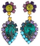 Dannijo Multicolor Crystal Drop Earrings