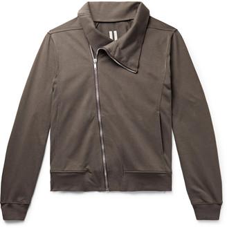 Rick Owens Slim-Fit Cotton-Jersey Zip-Up Sweatshirt