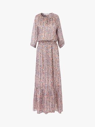 Gerard Darel Saly Silk Blend Maxi Dress