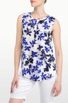 NYDJ Miramar Floral Print Sleeveless Blouse