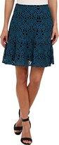 Nanette Lepore Women's I Spy Skirt Cyan Skirt