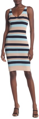 BCBGMAXAZRIA Striped Sleeveless Sweater Dress