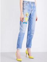 Fiorucci Tweety Bird regular-fit tapered high-rise jeans