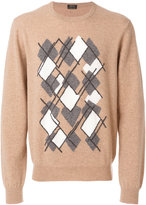 Z Zegna argyle print jumper - men - Polyamide/Cashmere - M