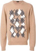Z Zegna argyle print jumper