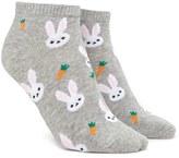 Forever 21 FOREVER 21+ Bunny Graphic Ankle Socks