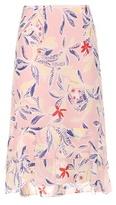 See by Chloe Printed silk skirt