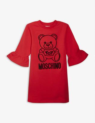 Moschino Bear logo cotton jumper dress 4-14 years