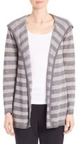 Eileen Fisher Linen Hooded Striped Cardigan