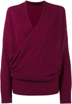 Haider Ackermann wrap around cashmere sweater