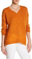 Topshop V-Neck Long Sleeve Knit Sweater