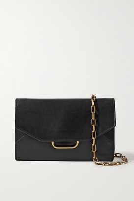 Isabel Marant Kyloe Leather Shoulder Bag - Black