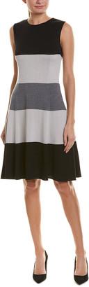 St. John A-Line Wool-Blend Dress