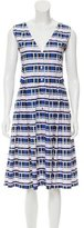 Suno Pleated Plaid Dress