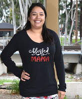 Beary Basics Black & Red 'Blessed Mama' Long-Sleeve Tee - Women & Plus