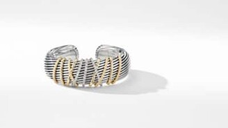 David Yurman Helena Cuff Bracelet With 18K Yellow Gold And Diamonds