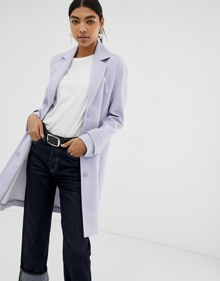 Asos Design DESIGN crepe coat-Gray