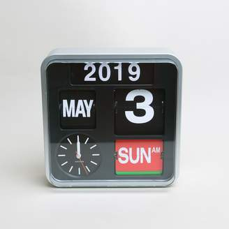 Present Time Karlson Mini Flip Wall Clock Silver