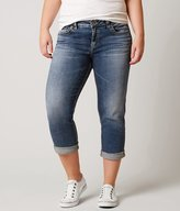 Silver Aiko Straight Cropped Jean - Plus Size Only