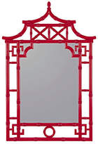 "One Kings Lane George 28""x42"" Wall Mirror - Glossy Red"