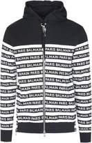 Balmain Zipped Tape Hoodie