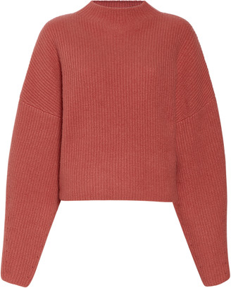 Sally LaPointe Ribbed Cashmere-Silk Sweater