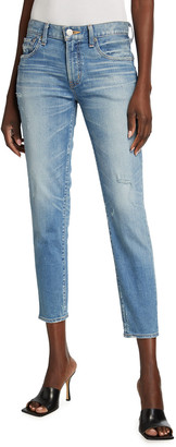 Moussy Velma Distressed Cropped Skinny Jeans