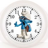 "Ikea New Smurf Brainy Wall Clock 10"" Will Be Nice Gift and Room Wall Decor Z123"