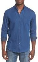 Scotch & Soda Men's Trim Fit Indigo Woven Shirt