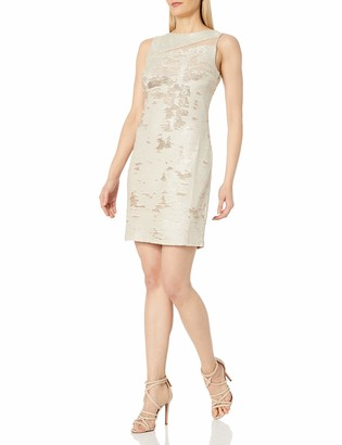 Julia Jordan Women's S/l Coming and Going All Over Sequin Sheath Dress
