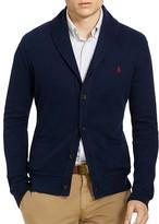 Polo Ralph Lauren Ribbed Cotton Shawl Collar Cardigan Sweater