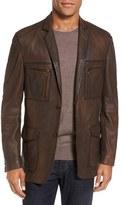 Men's Flynt Distressed Leather Sport Coat