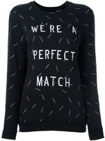 Zoe Karssen embroidered match sweatshirt