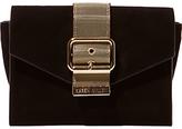 Karen Millen Metal Buckle Clutch Bag, Black
