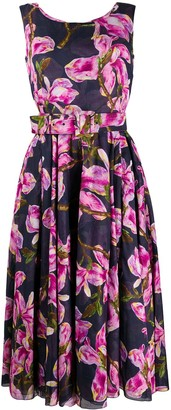 Samantha Sung Floral Print Flared Dress