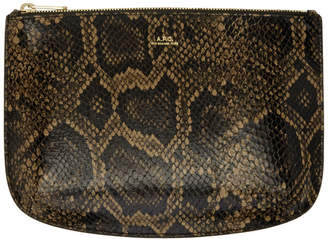 A.P.C. Brown Snakeskin Sarah Pouch