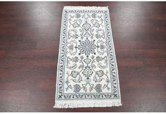 Stetson Isabelline One-of-a-Kind Nain Persian Hand-Knotted 2' 3'' x 4' 4'' Silk Beige/Ivory Area Rug Isabelline