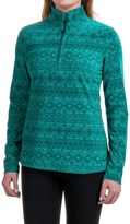 Eddie Bauer Nordic Microfleece Shirt - Zip Neck (For Women)