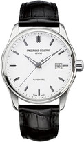 Frederique Constant FC-303S5B6 Index Slim stainless steel and leather watch