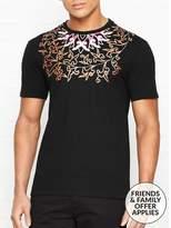 Versace Yoke Print Detail T-shirt