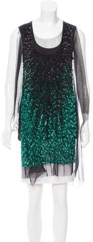 Givenchy Embellished Tulle-Trimmed Top